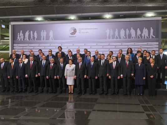 Участники саммита «Восточное партнёрство» (Рига, 2015).