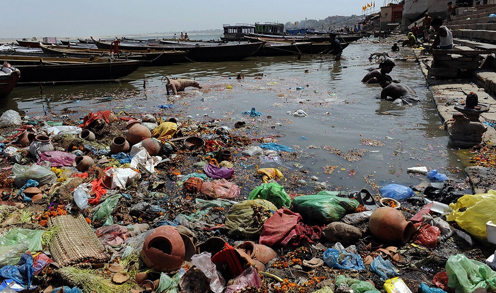 Cached Ganga river pollution pictures