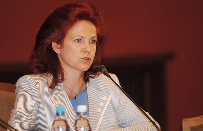 Глава партии «Единство» Солвита Аболтиня.