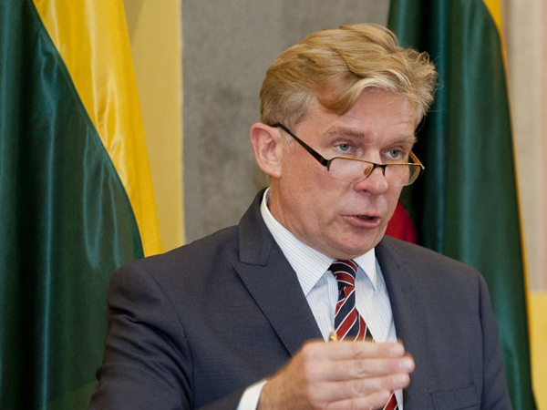 Экс-глава Министерства иностранных дел Литвы Аудронюс Ажубалис.