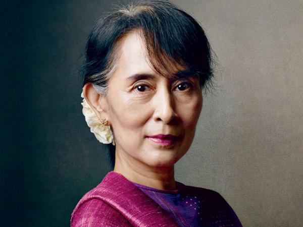 Лидер Национальной лиги за демократию Мьянмы Аун Сан Су Чжи.