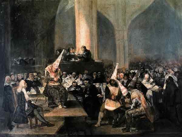 Франсиско Гойа, Суд Инквизиции или Дела веры Инквизиции  1819