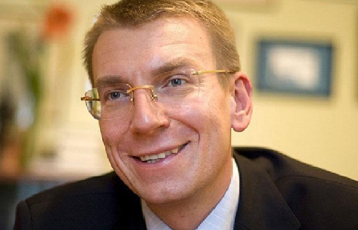 Эдгар Ринкевич - министр иностранных дел Латвии.