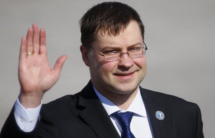Вице-президент Еврокомиссии Валдис Домбровскис.