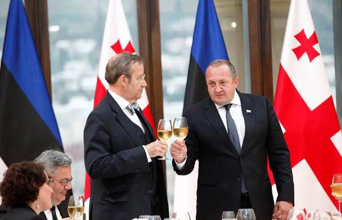 Тоомас Хендрик Ильвес и Георгий Маргвелашвили.