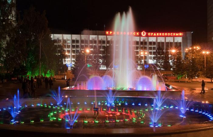 Репетиция ко Дню Победы и городские фонтаны— Красноярский край 4-5 мая