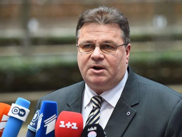 Министр иностранных дел Литвы Линас Линкявичюс.