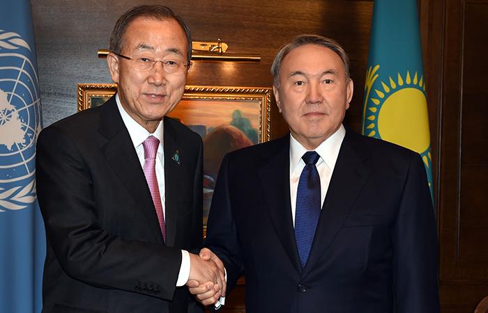 Пан Ги Мун и Нурсултан Назарбаев.