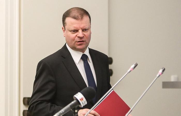 Министр внутренних дел Литвы Саулюс Сквернялис.
