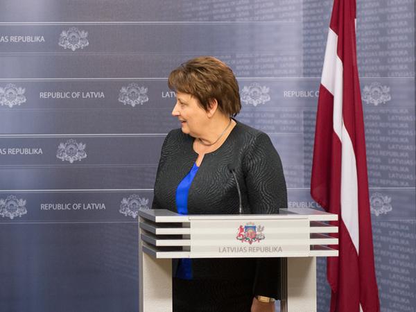 Премьер-министр Латвии Лаймдота Страуюма.