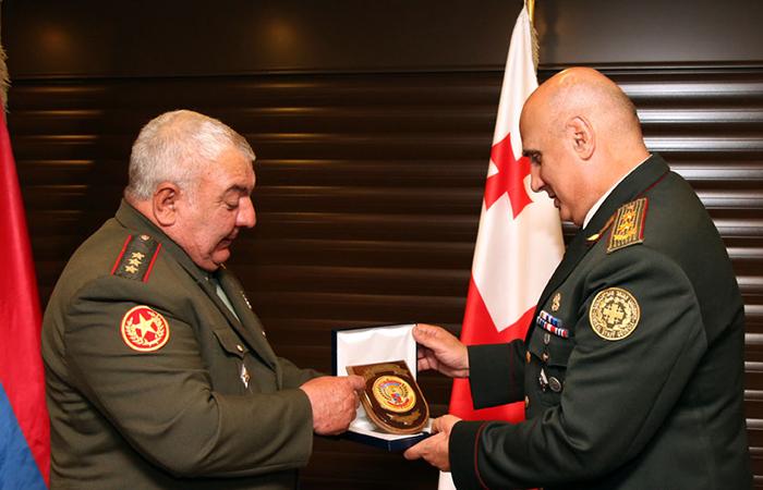 Начальник Генштаба ВС Грузии принял армянского коллегу