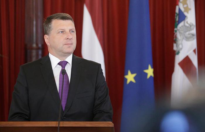 Президент Латвии Раймонд Вейонис.