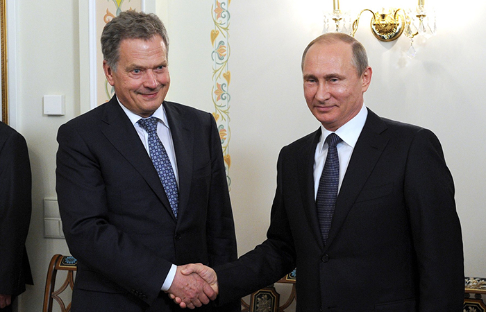 Саули Ниинистё и Владимир Путин.