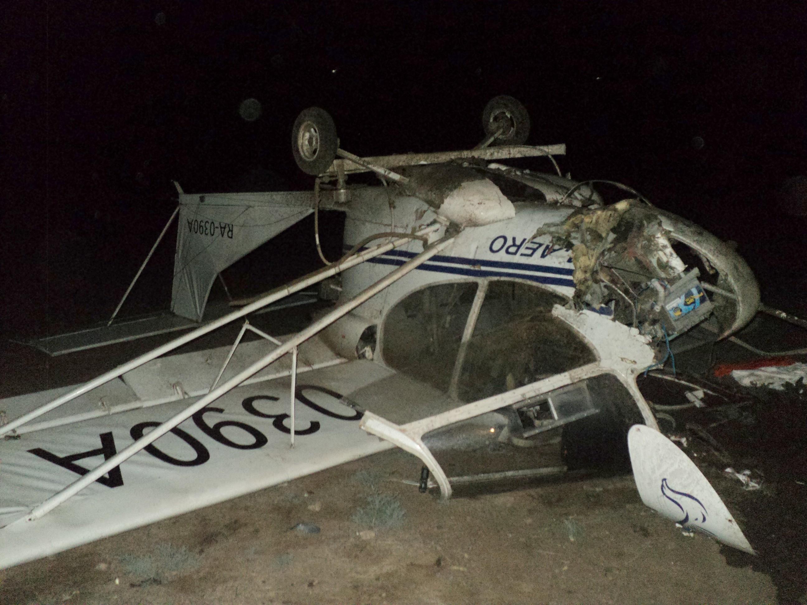 Легкомоторный самолёт жёстко сел в Астраханской области