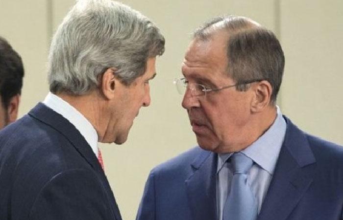 Министр иностранных дел Российской Федерации Сергей Лавров и государственный секретарь США Джон Керри.