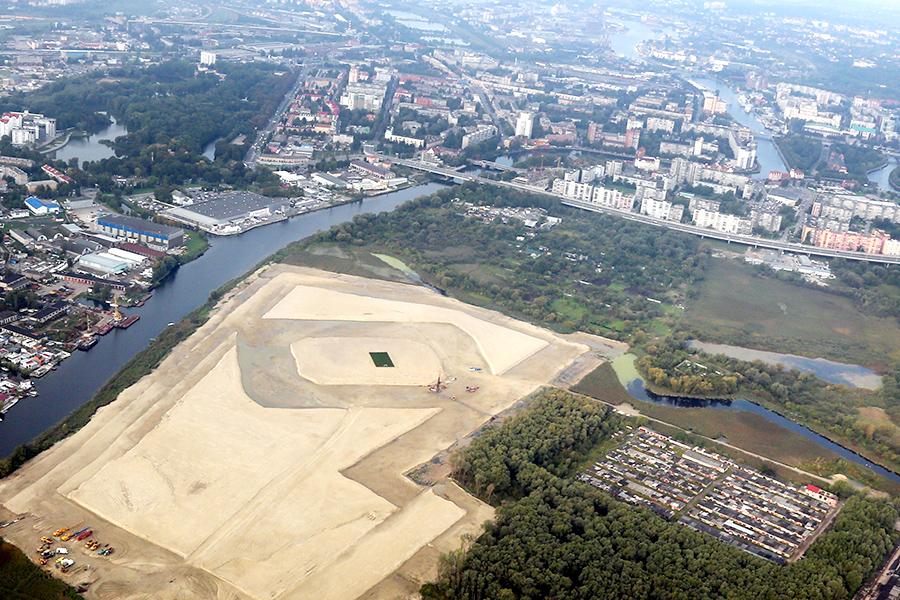 Будущий стадион в Калининграде с высоты птичьего полёта. Фото: gov39.ru.