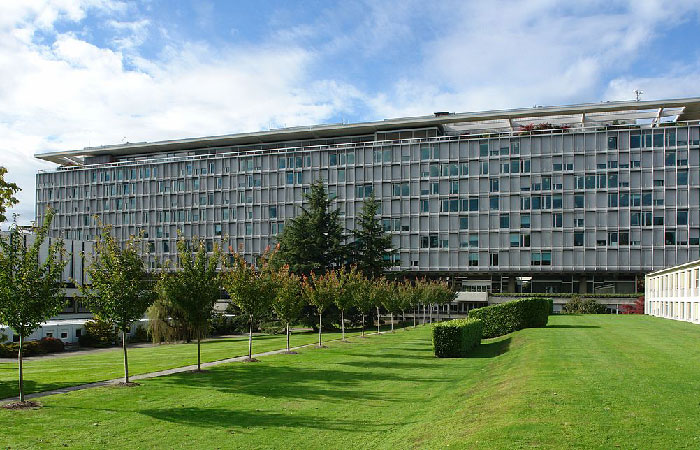 Штаб-квартира Всемирной Организациии Здравоохранения  в Женеве.