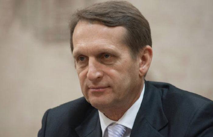 Сергей  Нарышкин - председатель Государственной думы Федерального собрания Российской Федерации.