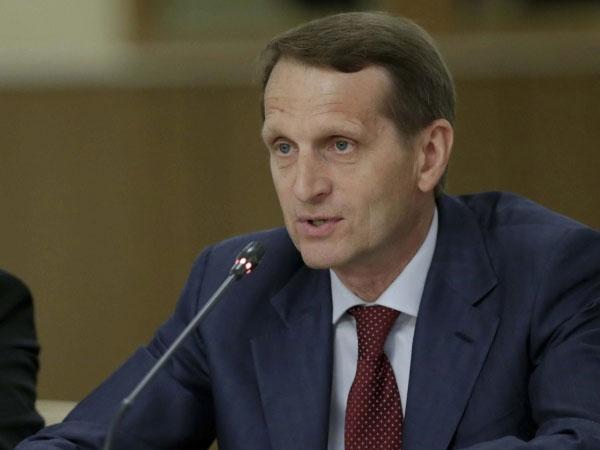 Спикер Государственной думы РФ Сергей Нарышкин.