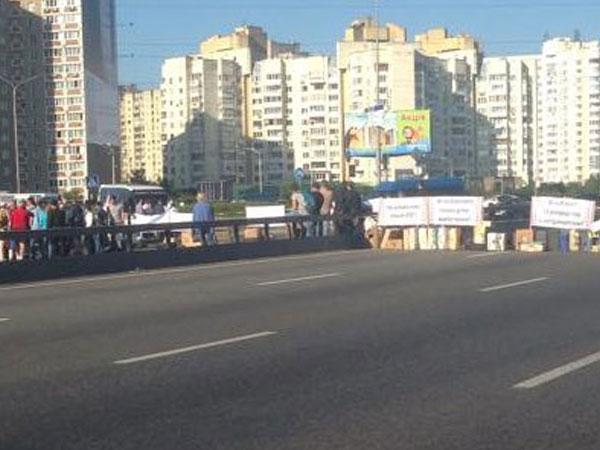 Предприниматели перекрыли проспект в Киеве