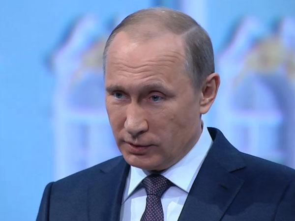 Президент России Владимир Путин. Кадр: forumspb.com
