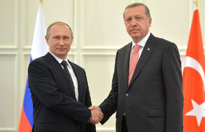 Владимир Путин встретился с Президентом Турецкой Республики Реджепом Тайипом Эрдоганом.