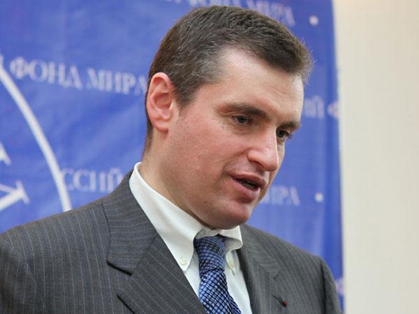 Глава комитета Госдумы делам СНГ и связям с соотечественниками Леонид Слуцкий.