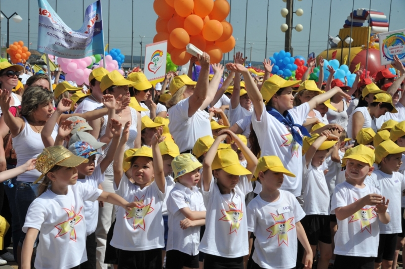 1 июня. Детский флешмоб. Фото Бориса Филатова