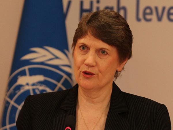 Администратор программы развития ООН (ПРООН) Хелен Кларк.