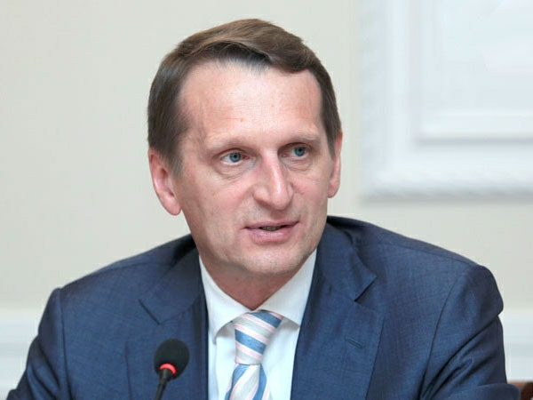 Председатель Государственной думы РФ Сергей Нарышкин.