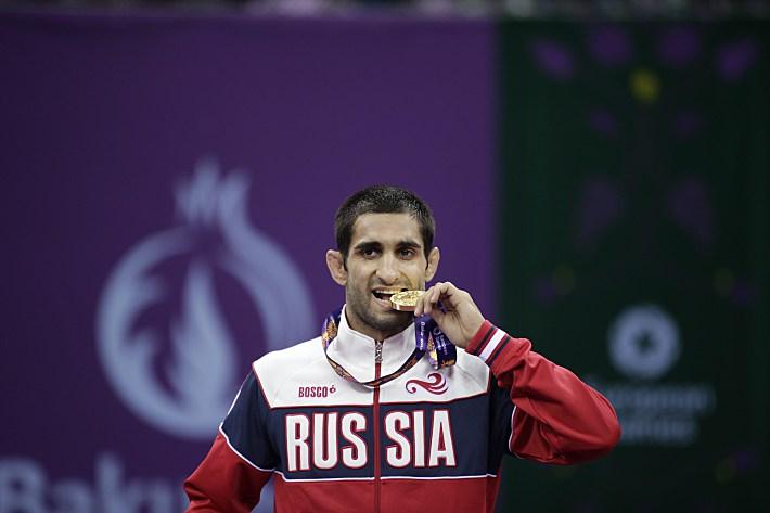 Степан Маранян - первый российский чемпион Европейских игр. © AFP