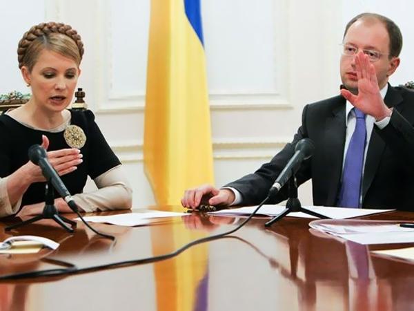 «Юлю за ручку и в Москву!»: Тимошенко и Яценюк поругались в Верховной раде