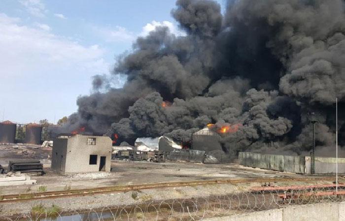 Пожар на нефтебазе компании «БСРМ-нафта»