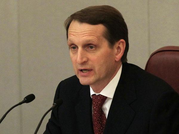 Нарышкин рассказал, кому выгодна подмена решений Совбеза ООН по Украине