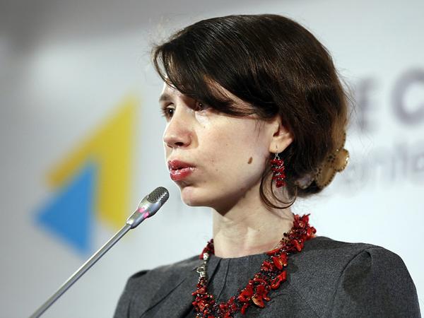 Народный депутат Украины от «Народного фронта» Татьяна Черновол.