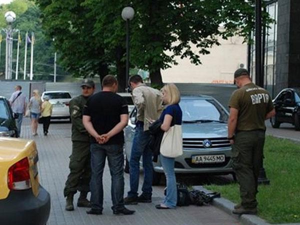Журналист Колчина Ксения и оператор Гриневич Максим.