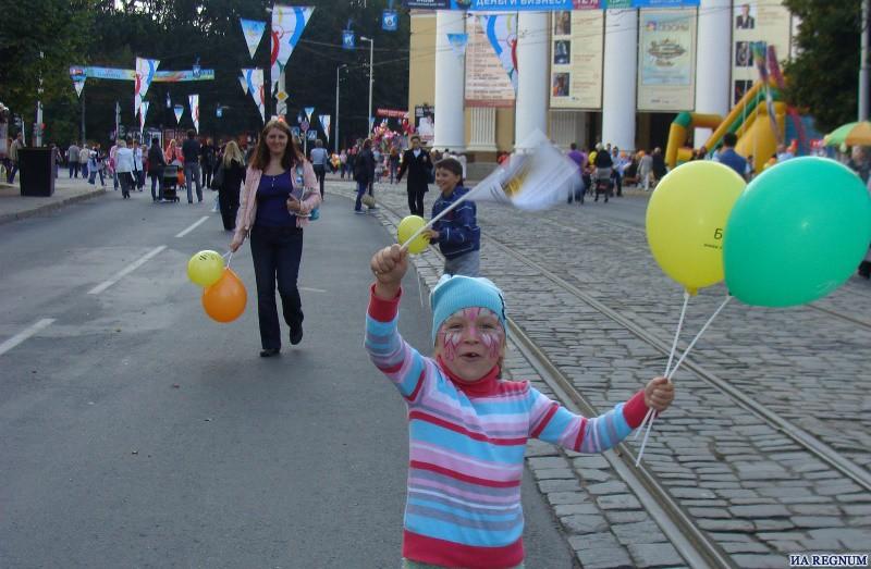 Пешеходная зона в День города Калининграда.