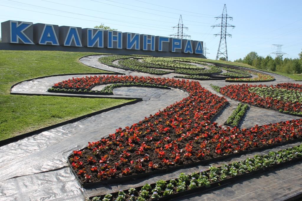 Клумбу 2018 увидят все гости, прибывающие в Калининград из аэропорта.