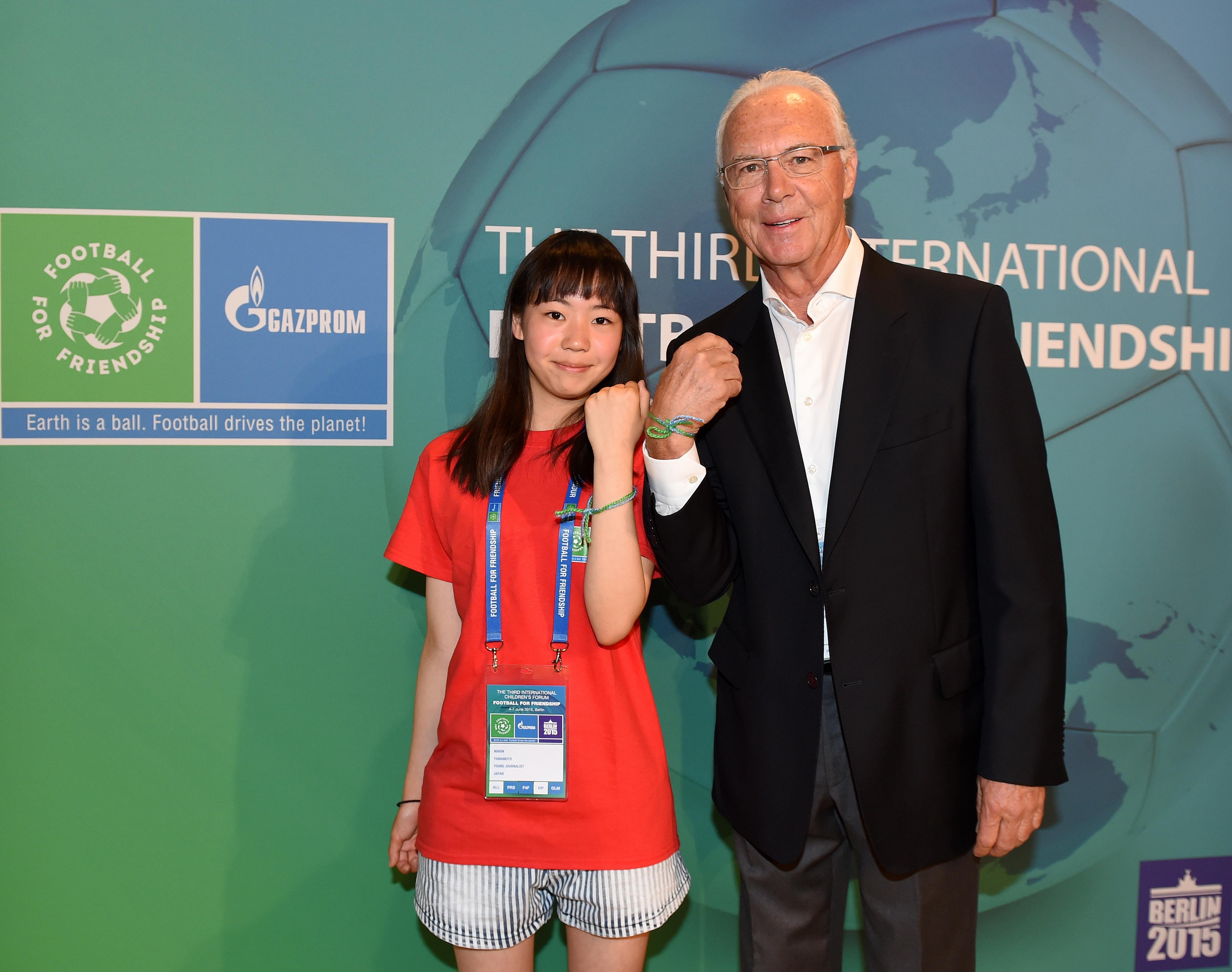 Глобальный амбассадор проекта «Футбол для дружбы» Франц Беккенбауэр.