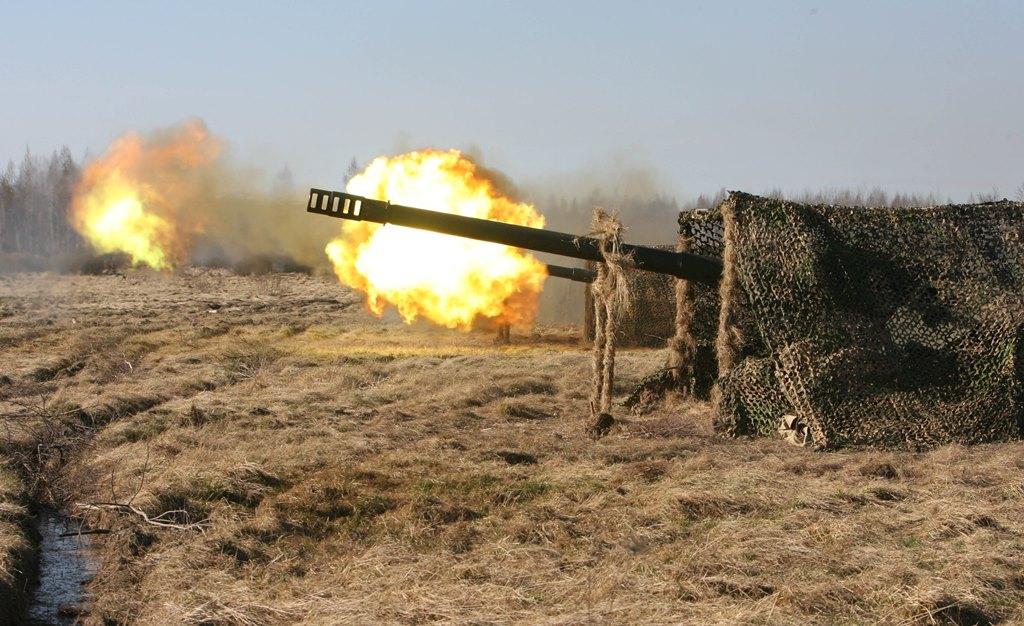 Артиллерия в Калининградской области. Фото предоставлено штабом Балтфлота.