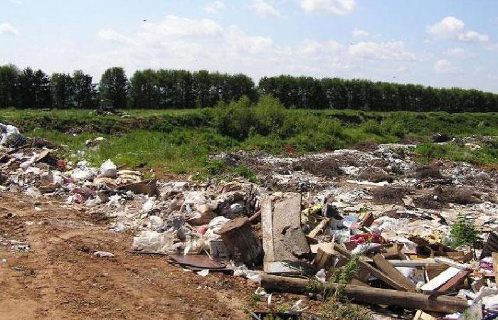 Несанкционированная свалка мусора.