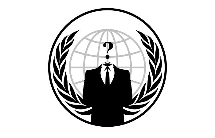 Эмблема группы хакеров Anonymous.