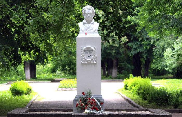 Бюст А.С.Пушкина в Калуге.