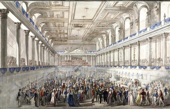 Иоганн Непомук Хёхле. Венский конгресс. Картина 1815 года. Источник: Wiener Zeitung