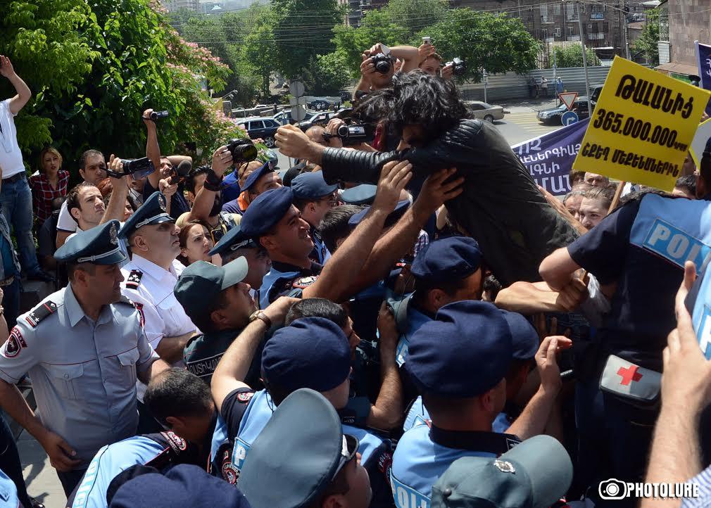 Акция протеста против повышения тарифов. © Photolure