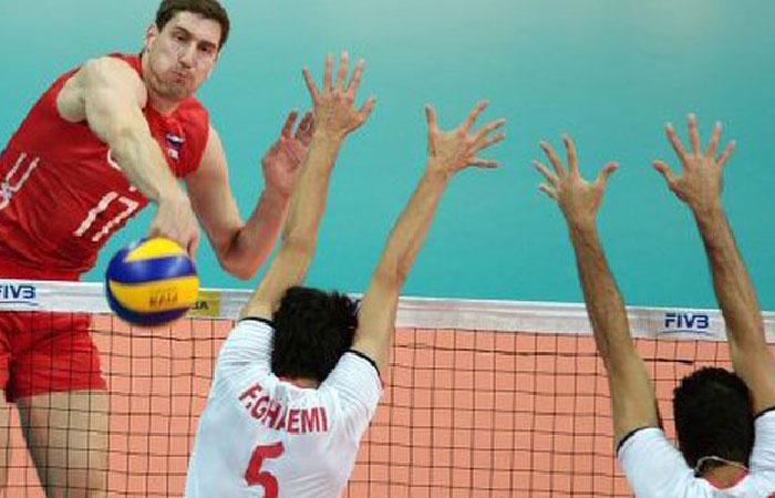 Волейболисты сборной России проиграли Ирану в матче Мировой лиги в Казани.