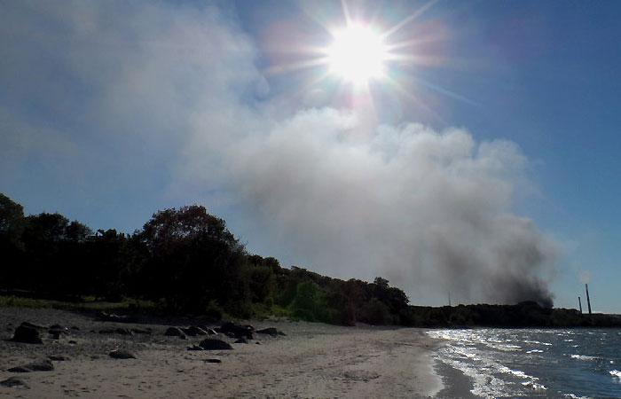 Пожар на заводе по производству редкоземельных металлов в эстонском городе Силламяэ.