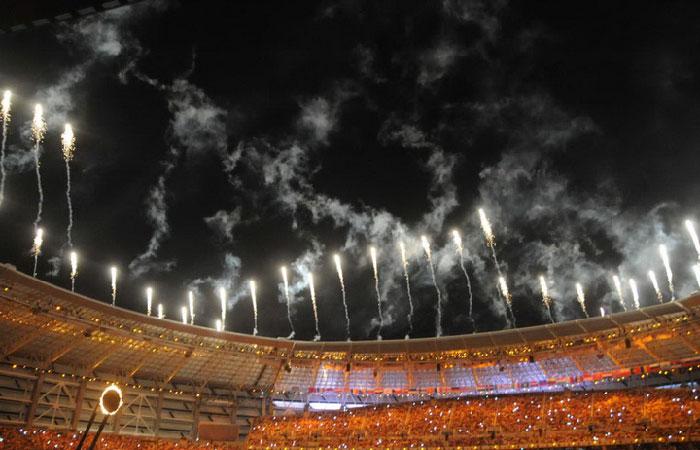 Церемония открытия Первых Европейских игр в Баку.