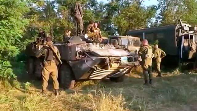 Бойцы украинского добровольческого батальона «Торнадо».