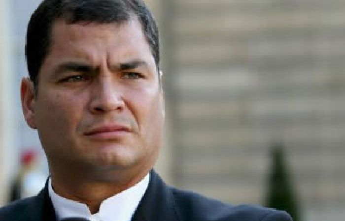 Рафаэль Корреа - президент Эквадора.